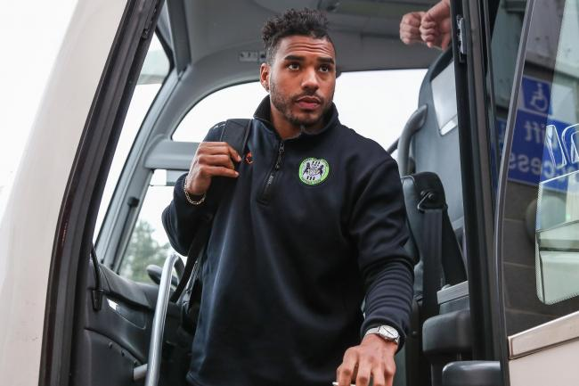 FAREWELL: Reuben Reid has left Forest Green to join League Two rivals Cheltenham Town           Pic: Shane Healey/ Pro Sports Images