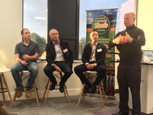 ADVICE: Paul Drabble, right, and a panel of experts offered advice to entrepreneurs