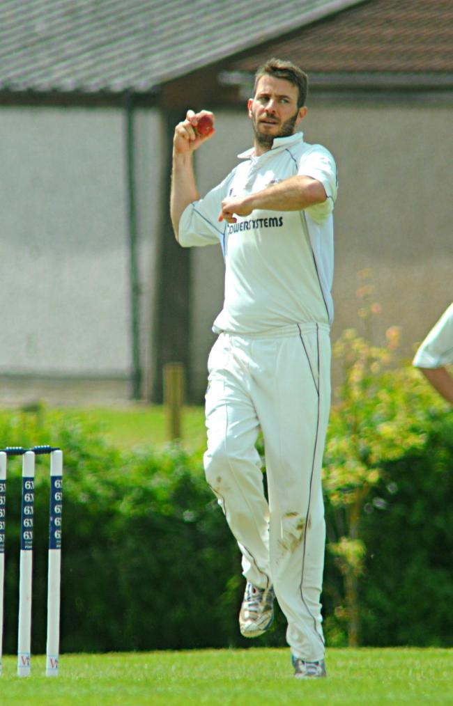 Jamie Rendle bowling for Chipping Sodbury against Lechlade