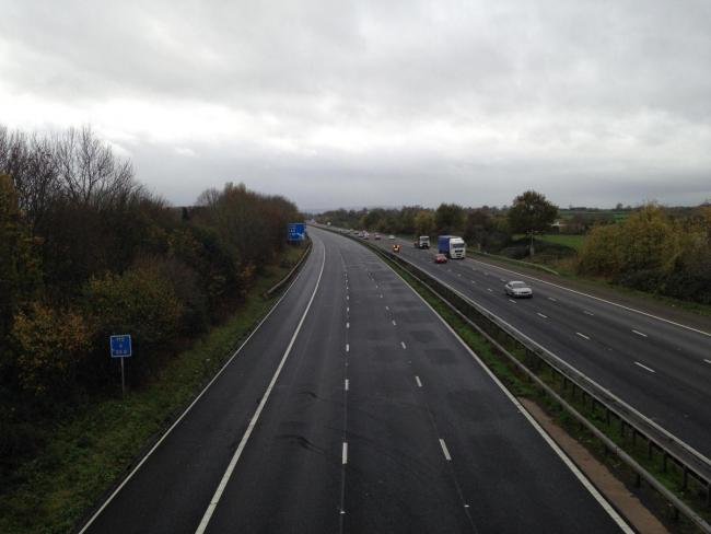 The M5 is currently closed