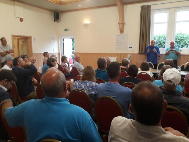 The meeting at Easter Compton was attended by a number of residents