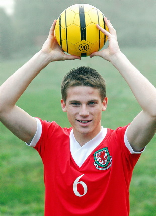 Youngster: Christian Ribeiro has come a long way since representing Wales at schoolboy level