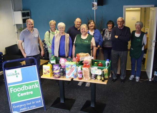 Volunteers from the Yate and Chipping Sodbury Foodbank earlier this year, they will now form part of a team managed by North Bristol Foodbank