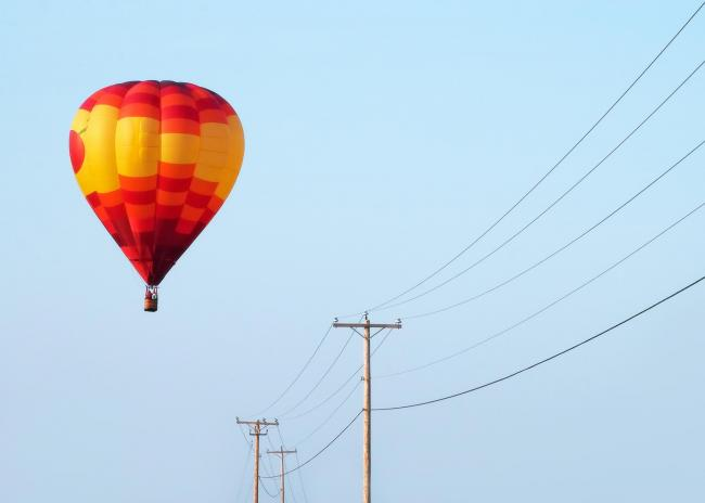 Balloonists have been urged to stay away from power lines