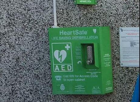 The defibrillator was stolen earlier this month