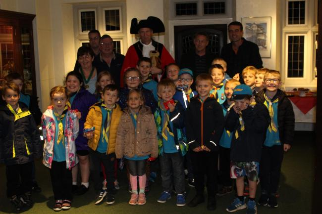 1st Yate Beavers at Poole Court in Yate with the Mayor of Yate Karl Tomasin