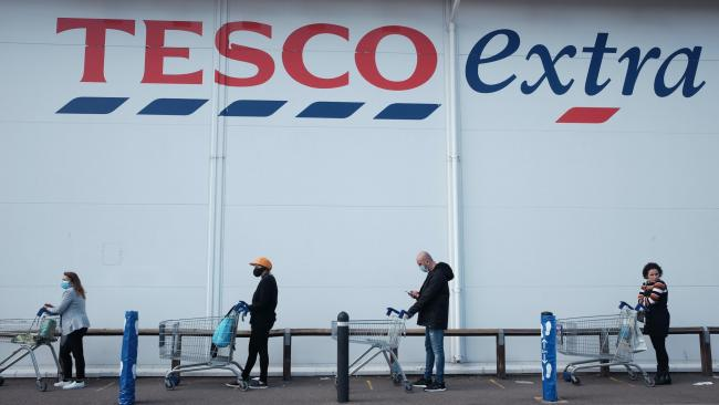 Tesco reveals new rule on queuing up when it's raining. Picture: PA Wire