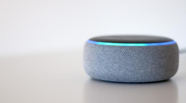 Gazette Series: The Echo Dot (third-generation) is one of the smallest Amazon Echo smart speakers. Credit: Reviewed / Betsey Goldwasser