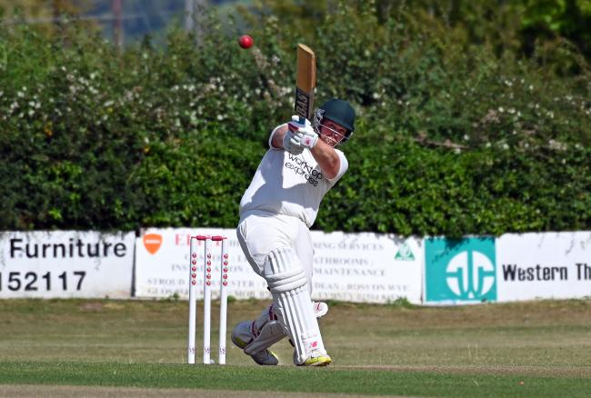 Chris Whincup batting for Frocester. Photo: Brian Rossiter