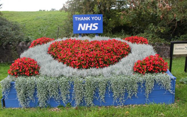 Thornbury in Bloom's floral tribute to the NHS