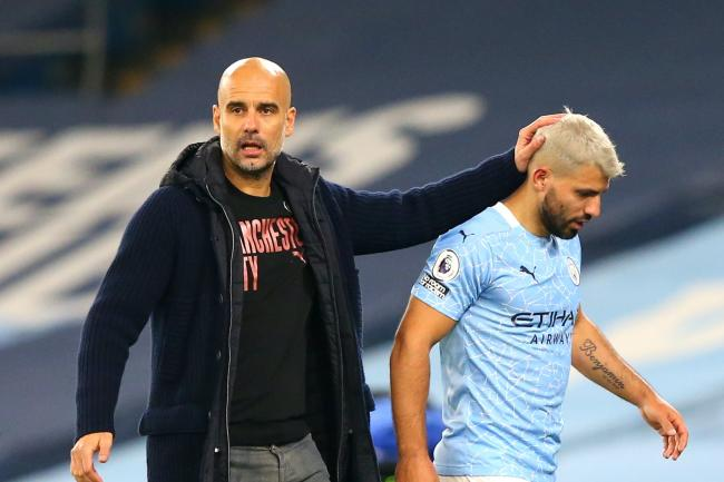 Pep Guardiola has defended Sergio Aguero (Alex Livesey/PA).
