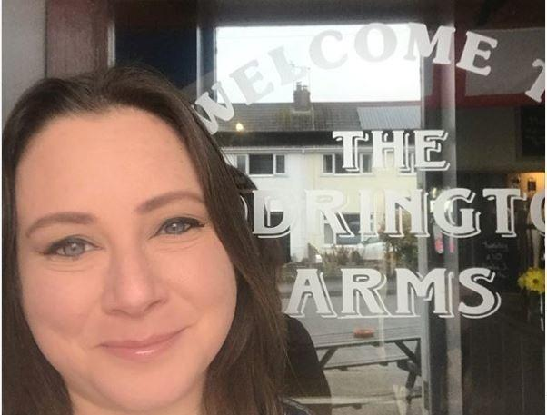Jenna Hale landlady at The Codrington Arms, North Road