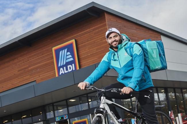 Aldi extends delivery trial with Deliveroo to almost 130 stores across the UK. Picture: Aldi