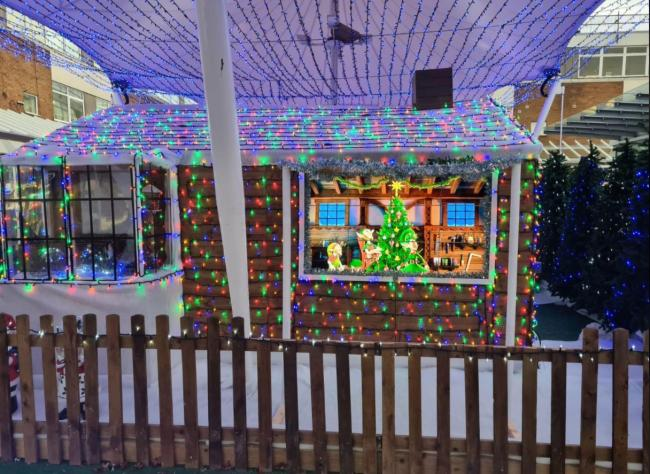 This year's Santa's grotto in Yate shopping centre