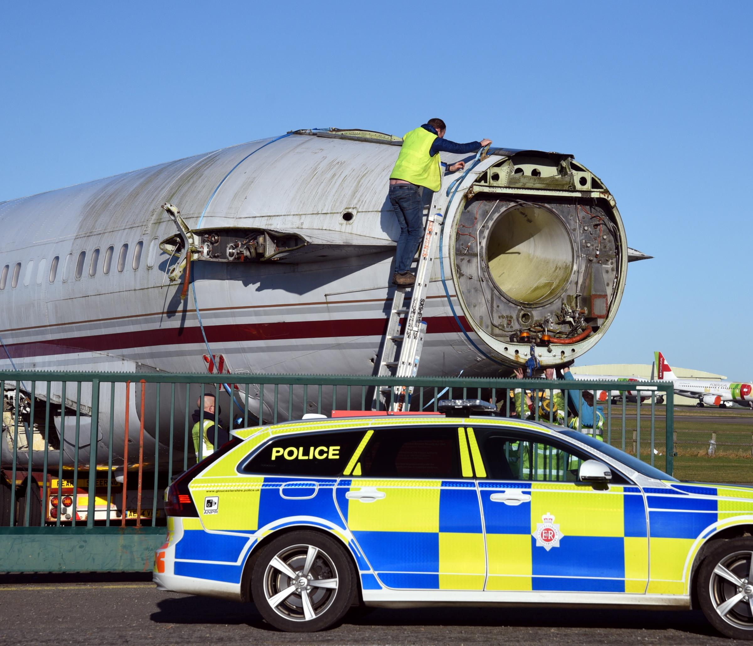 February 27 2021 PHOTOGRAPHER COPYRIGHT SIMON PIZZEY PYTCH AIR Plane move from Kemble Cotswold Airport to Bristol