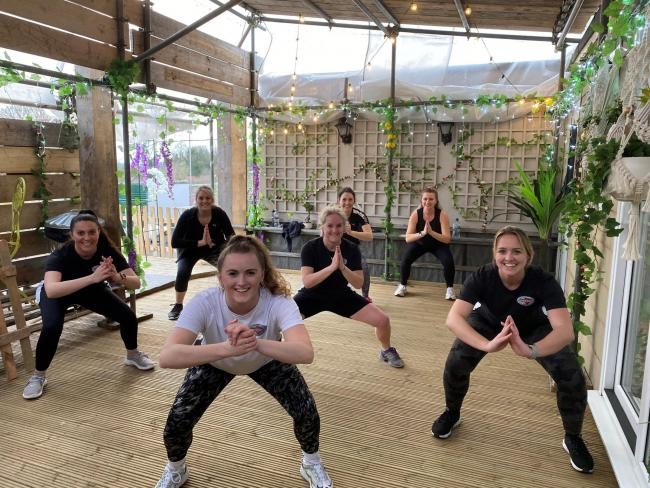 Street cred owner Faith Newport puts the dance mums through their paces at Goldney House in Chipping Sodbury