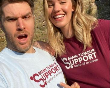 Joel Dommett and Hannah Cooper have become ambassadors for Brain Tumour Support