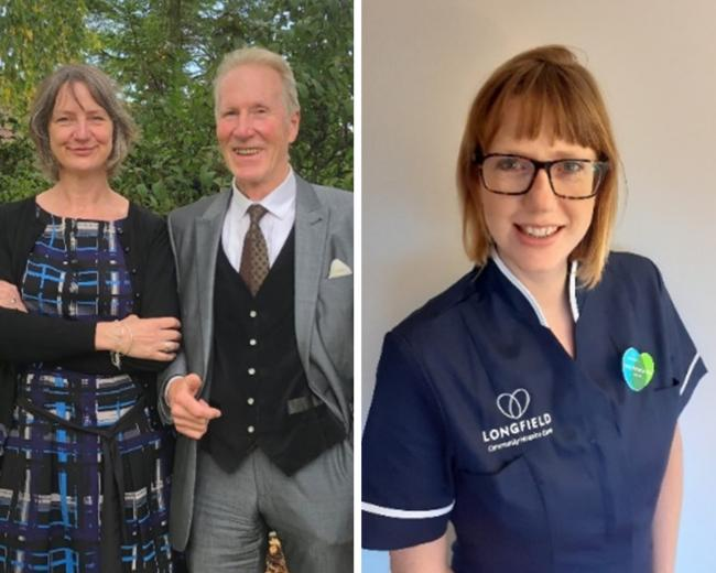 Left: Jane Diamond and James Showers from Family Tree Funeral Company. Right: Portia Hampton Wale, lead nurse at Longfield Hospice
