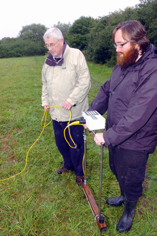 Looking for signs of Roman development, Paul Driscoll and Martin Davis using Geophysics
