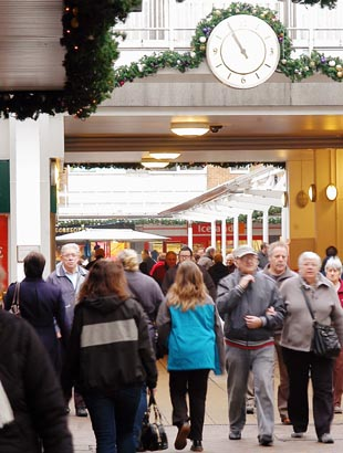 Shoppers flocked to Yate Shopping Centre this Christmas