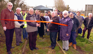 Rev Bill Boon cut the ribbon on Saturday to launch the Pro Active Vision Railway Project at Sharpness