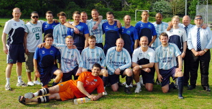 Almondsbury Town players and staff after their last game