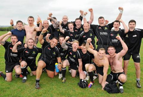 Chipping Sodbury celebrate winning the league   GSR313H12