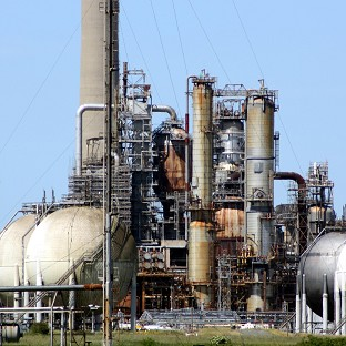 The Chevron refinery, at Pembroke Dock, where four workers were killed a year ago