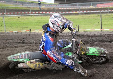 Lee Dunham in action at Oss. Picture: Mike Wood