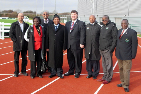 Kenyan delegates viewing the facilities at Filton last year