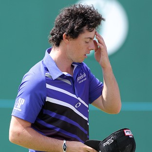 Rory McIlroy after finishing his final round at the Open
