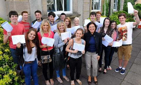 Castle School sixth formers celebrate A-level results