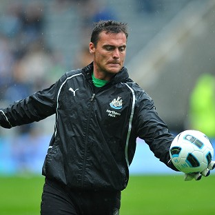 Steve Harper is set to make his first competitive Newcastle appearance in over a year