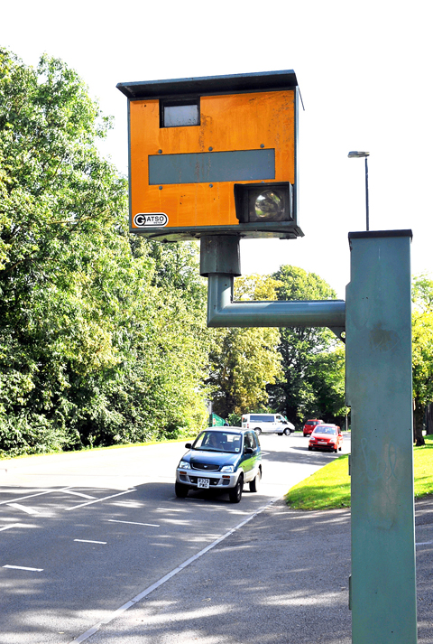 The speed camera in Kingshill Road, Dursley