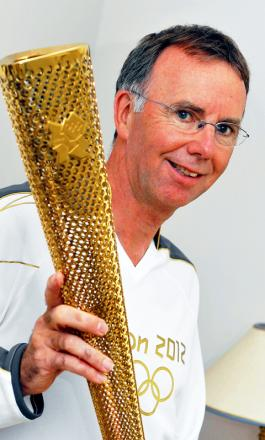 William Cruickshank of Wotton-under-Edge with his Olympic torch