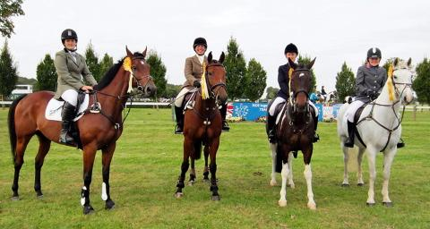 Berkeley and District Riding Club's Intermediate Show Jumping team of Leanne Webber, Karen Gobey, Aimee Conlon and Genevieve Wilkes