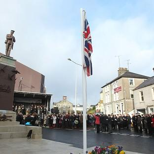 Gazette Series: Enniskillen comes to a standstill to mark the 25th anniversary of the IRA Poppy Day bombing atrocity