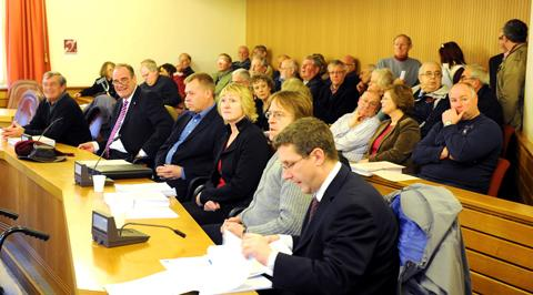 A full public gallery at the South Gloucestershire Council meeting