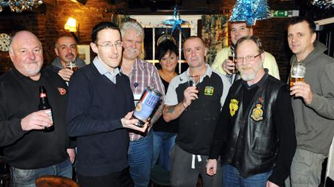 Regulars at the Cross Keys pub in Yate have raised money for Help for Heroes