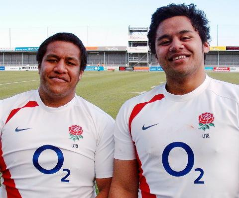 Mako and Billy after playing together for England under-18s in 2009