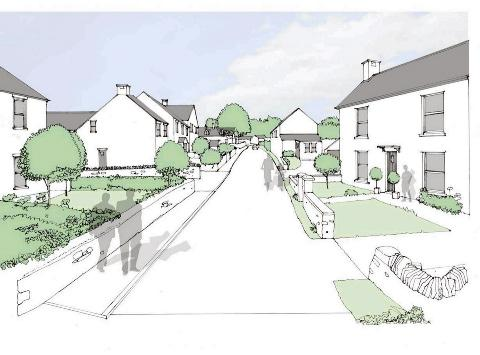 An artist's impression of the development at Woodlands Farm