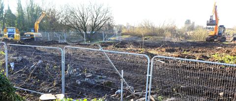 Site clearance work is underway at Barnhill Quarry in Chipping Sodbury