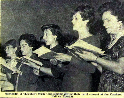 The Thornbury Choral Society back in the 1960s