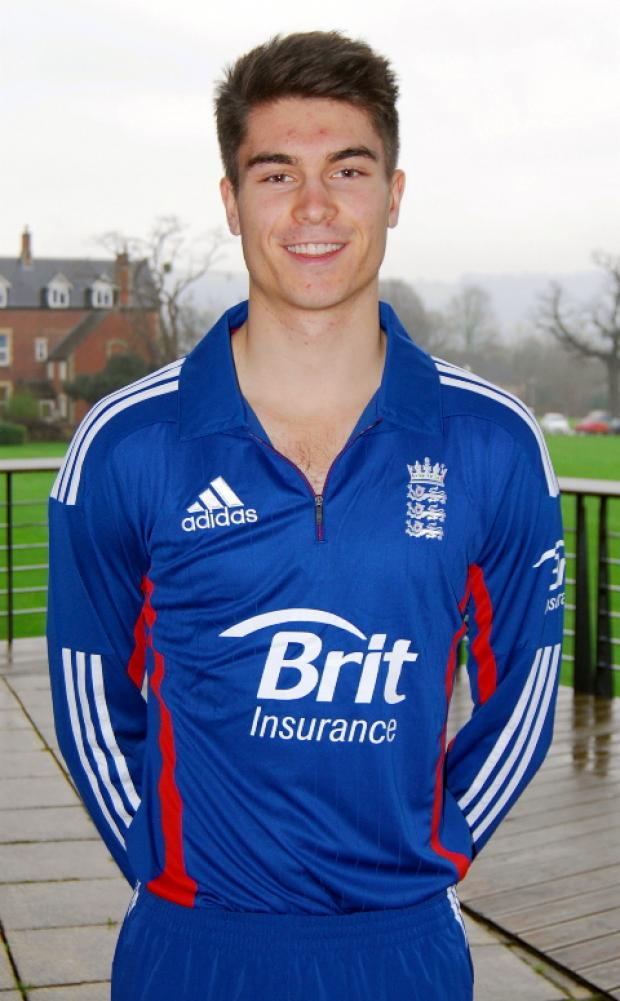 Tom Shrewsbury in his England kit