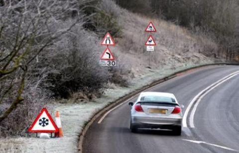Motorists are being urged to take extra care as icy conditions cause numerous accidents