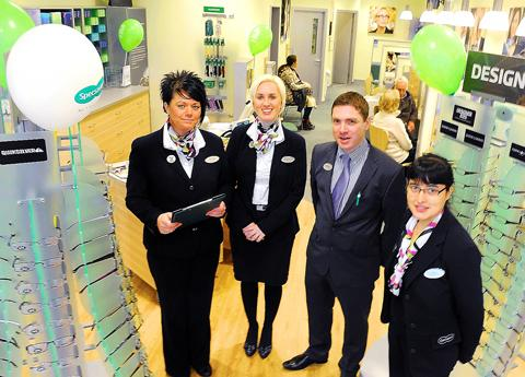 Staff at the new Specsavers on St Mary's Parade in Thornbury