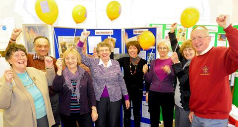 Members of the Thornbury Volunteer Centre celebrating their silver jubilee