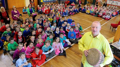 Dave Denning, caretaker at Raysfield Infants School in Chipping Sodbury, is going to The Gambia next week