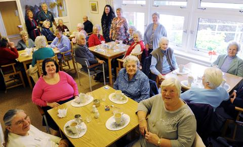 Guests at the Stroud District Council neighbourhood wardens' lunch at the GL11 Project in Cam
