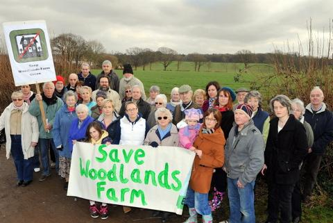 Coalpit Heath residents are against Barratt Homes' plans for 380 houses at Woodlands Farm